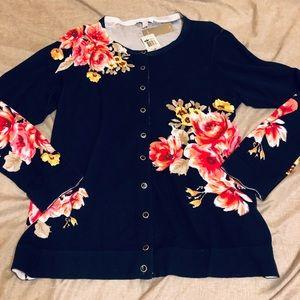 Charter club floral cardigan size 1x